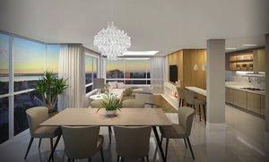 Cobertura DUPLEX 202m² - 3 dormitórios 2 vagas - Menino Deus Corrêa Lima Porto Alegre -