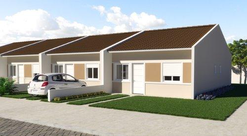 Casa em Condomínio Residencial Araucária - Fase 1 2 dormitórios 40m² Adão Foques Guaíba -