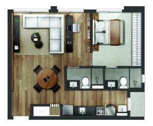 2 dormitórios no Go 1092 Rua Santana Porto Alegre